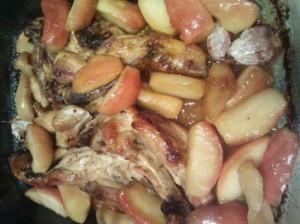 receta de pollo con manzanas
