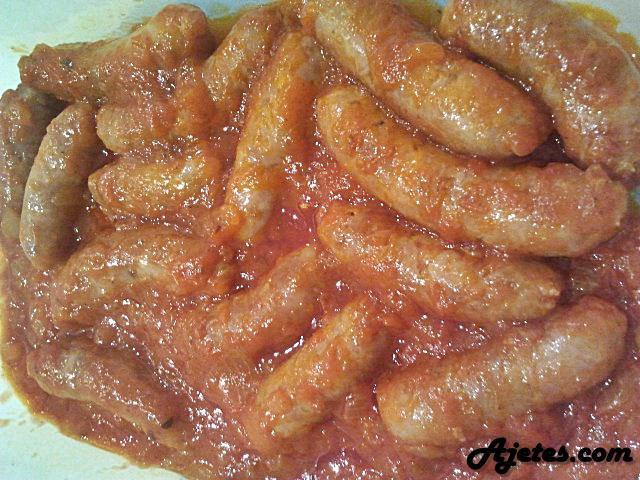 Receta de salchichas en salsa de tomate