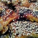 alitas de pollo con sésamo