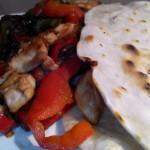 Fajitas de pollo. Receta de cocina mexicana