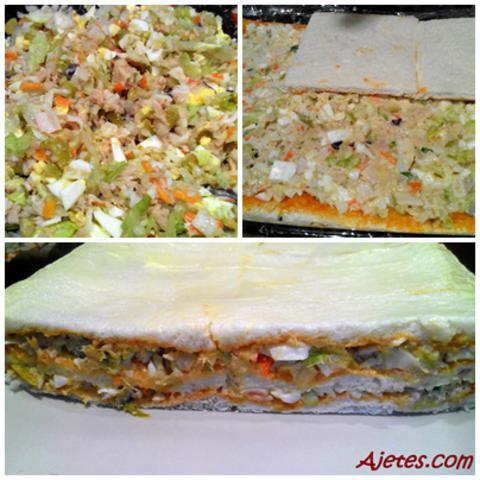 pastel de pan de molde