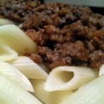 Receta de pasta con salsa boloñesa casera