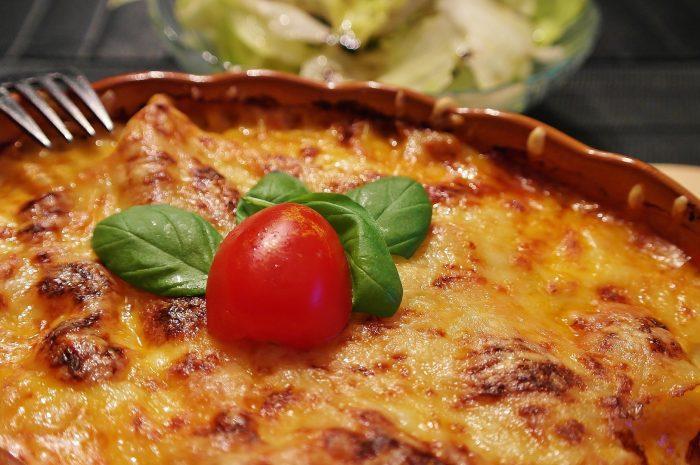 Lasaña de verduras con queso Raclette