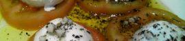 Receta de ensalada de tomate y queso mozzarella