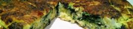 Receta de tortilla de espinacas y patatas