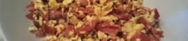 Revuelto de ajos tiernos con jamón